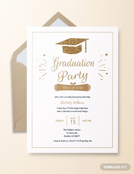 Graduation Celebration Invitation Templates Beautiful 22 Graduation Invitation Templates Word Psd Vector
