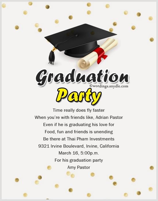 Graduation Celebration Invitation Templates Elegant Invitation Message for Graduation Party Cobypic
