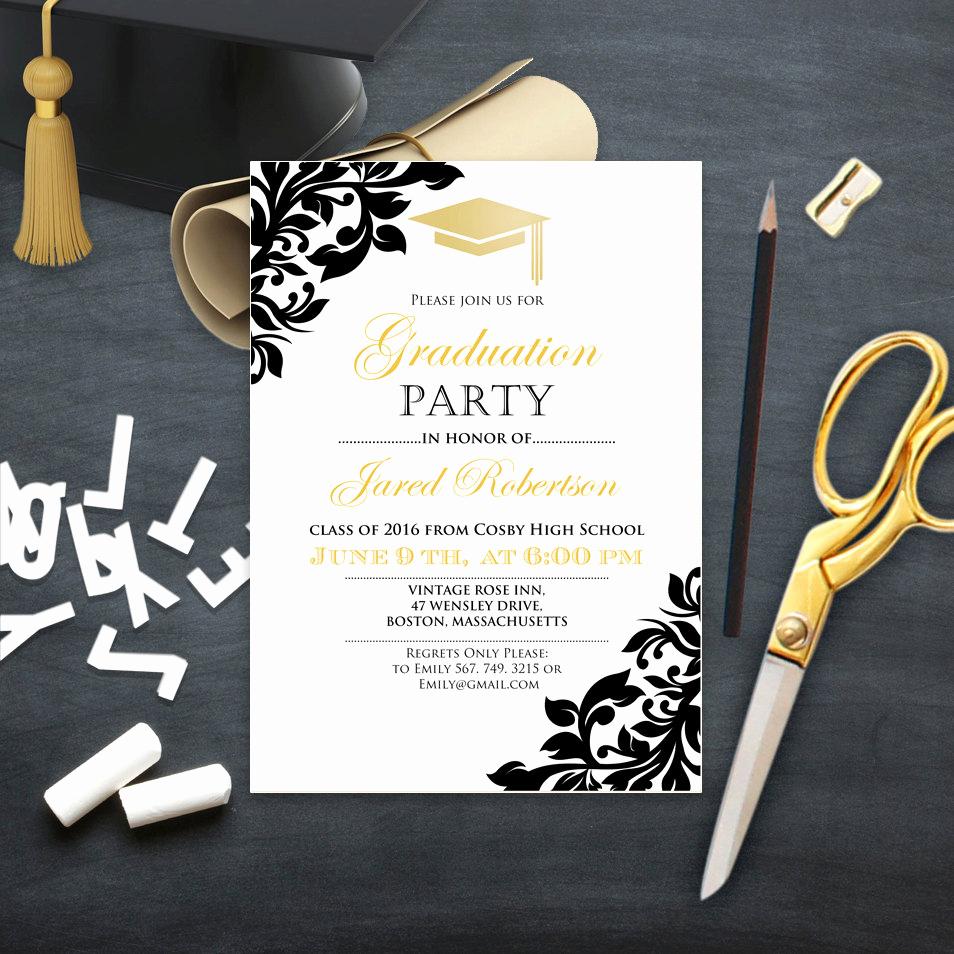 Graduation Celebration Invitation Templates Luxury Graduation Party Invitation College Printable Template Girl