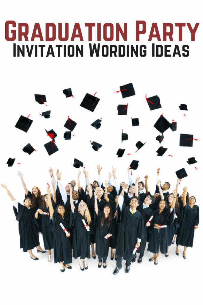 Graduation Celebration Invitation Templates Unique Graduation Party Invitation Wording Allwording