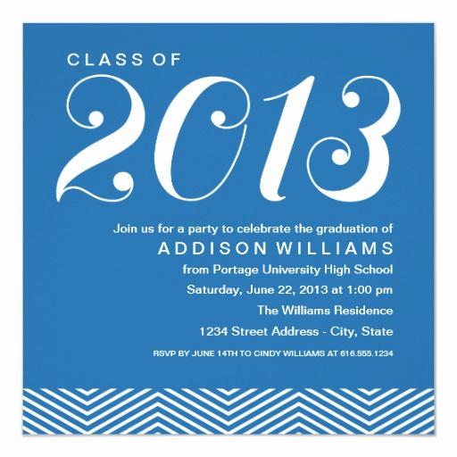 Graduation Celebration Invitation Wording Inspirational Graduation Party Invitations Stylish Stripes