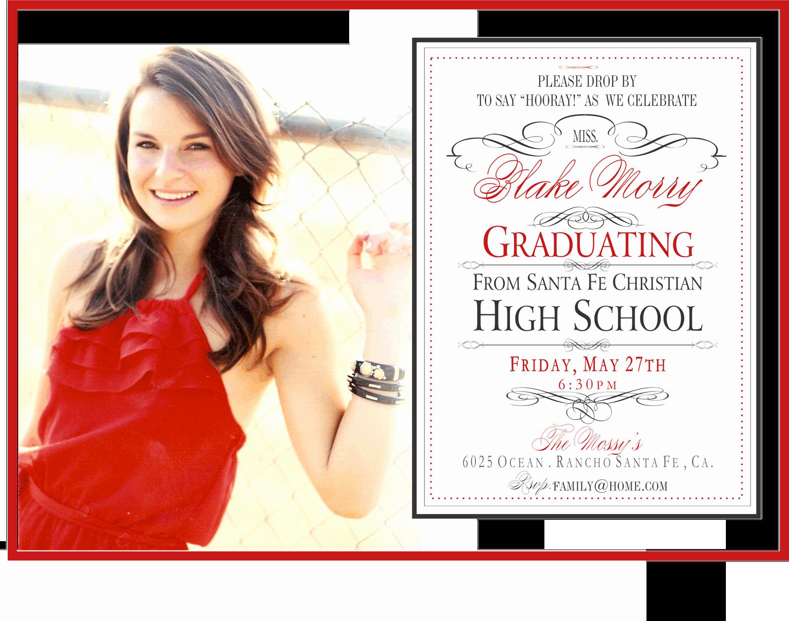 Graduation Celebration Invitation Wording New Line Invitations