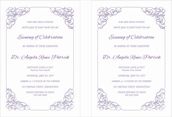 Graduation Ceremony Invitation Card Awesome 42 Printable Graduation Invitations Psd Ai Word