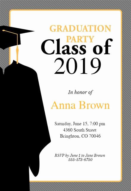 Graduation Ceremony Invitation Card Awesome Graduation Party Invitation Templates Free