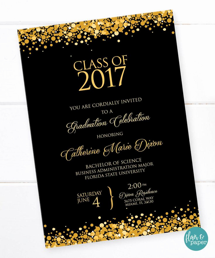 Graduation Ceremony Invitation Card Beautiful 25 Best Ideas About High School Graduation Invitations On
