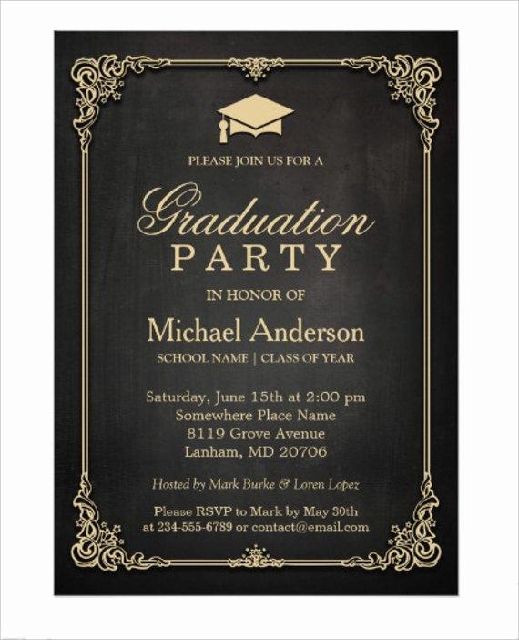 Graduation Ceremony Invitation Card Beautiful 78 Invitation Card Examples Word Psd Ai Word