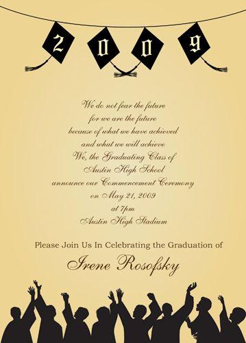 Graduation Ceremony Invitation Card Fresh Graduation Party Party Invitations Wording