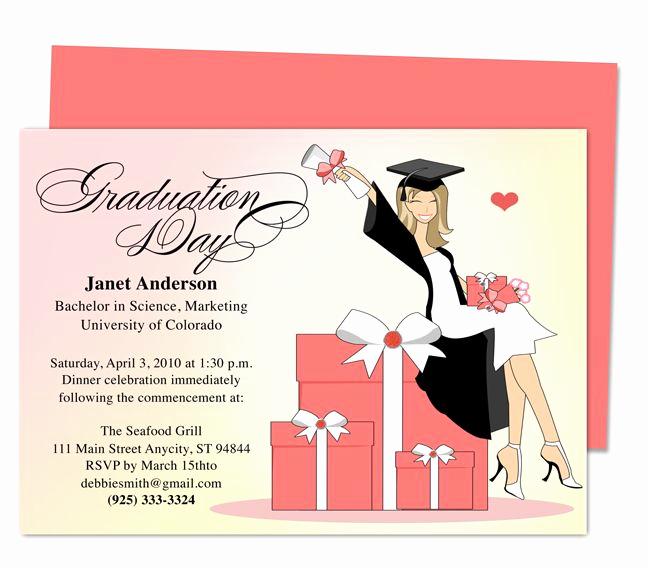 Graduation Ceremony Invitation Card Inspirational Best 46 Printable Diy Graduation Announcements Templates