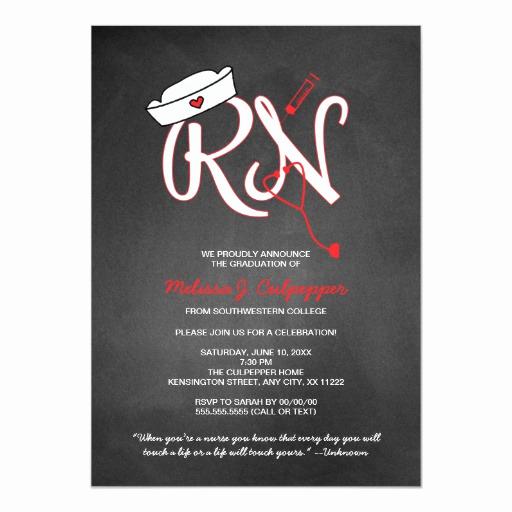 Graduation Ceremony Invitation Card Lovely Rn Nurse Graduation Party Pinning Ceremony Invites