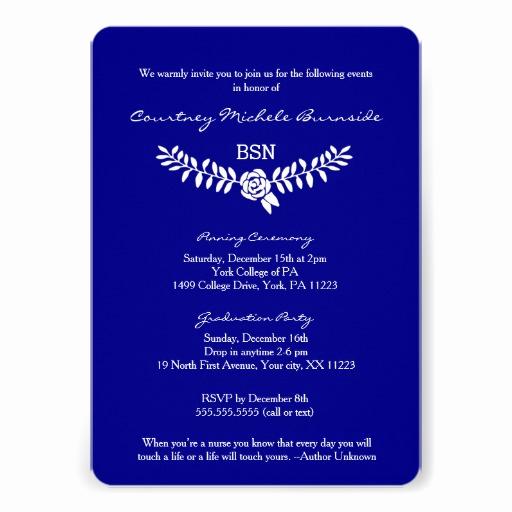 "Graduation Ceremony Invitation Card Unique Bsn Graduation Rn Rdh Nurse Pinning Ceremony 5"" X 7"