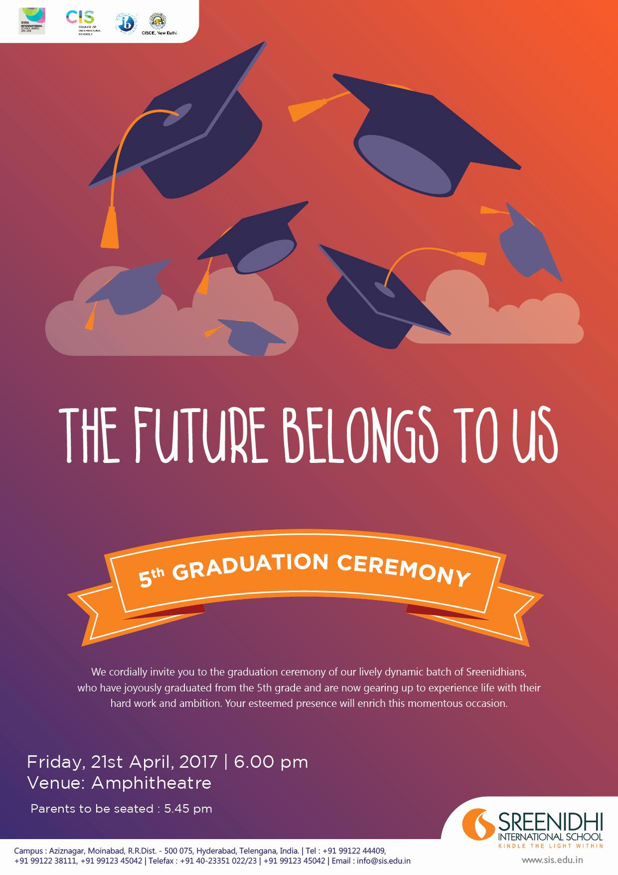Graduation Ceremony Invitation Letter New Sreenidhi International School
