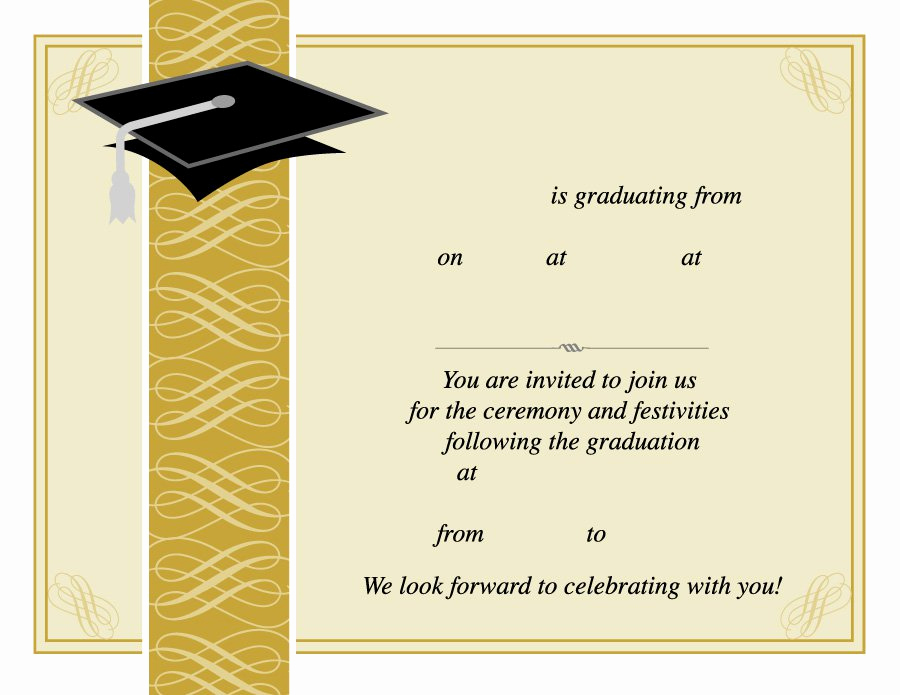 Graduation Ceremony Invitation Templates Free Awesome 40 Free Graduation Invitation Templates Template Lab