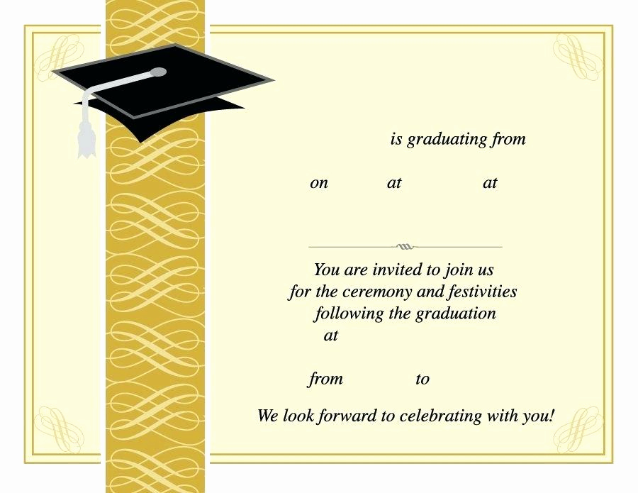 Graduation Ceremony Invitation Templates Free Awesome Graduation Ceremony Invitations Templates