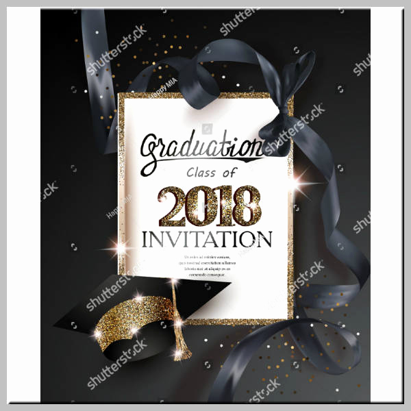 Graduation Ceremony Invitation Templates Free Beautiful 17 Graduation Ceremony Invitation Designs & Templates