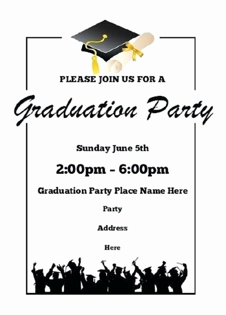 Graduation Ceremony Invitation Templates Free Lovely Printable Graduation Party Invitations