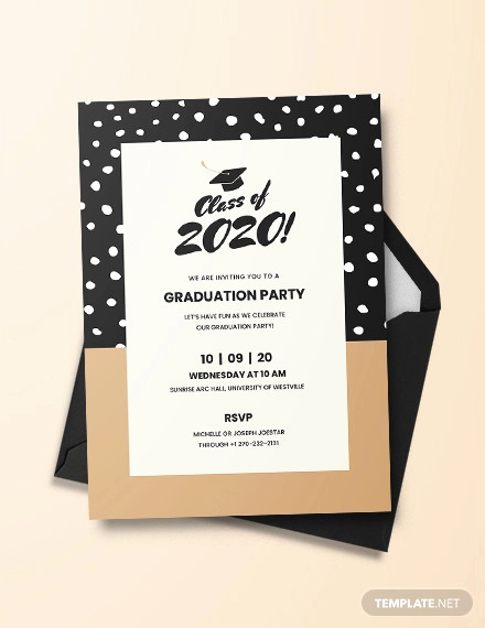 Graduation Ceremony Invitation Templates Free Luxury 48 Sample Graduation Invitation Designs & Templates Psd
