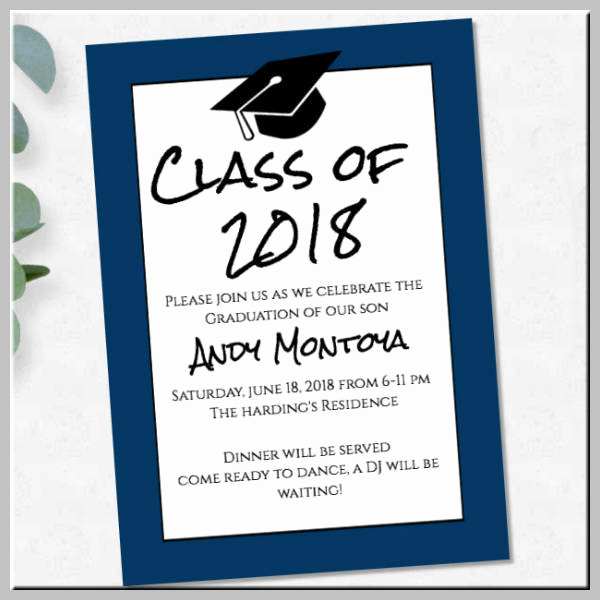Graduation Ceremony Invitation Templates Free Unique 17 Graduation Ceremony Invitation Designs & Templates