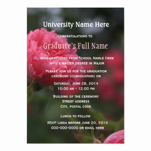Graduation Ceremony Invitation Wording Beautiful Graduation Ceremony Convocation Invitations