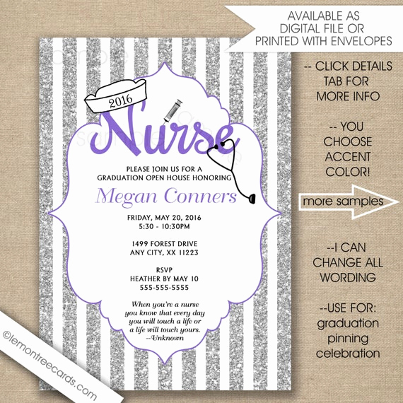 Graduation Ceremony Invitation Wording Lovely Items Similar to Nurse Pinning Ceremony Invitations Rn