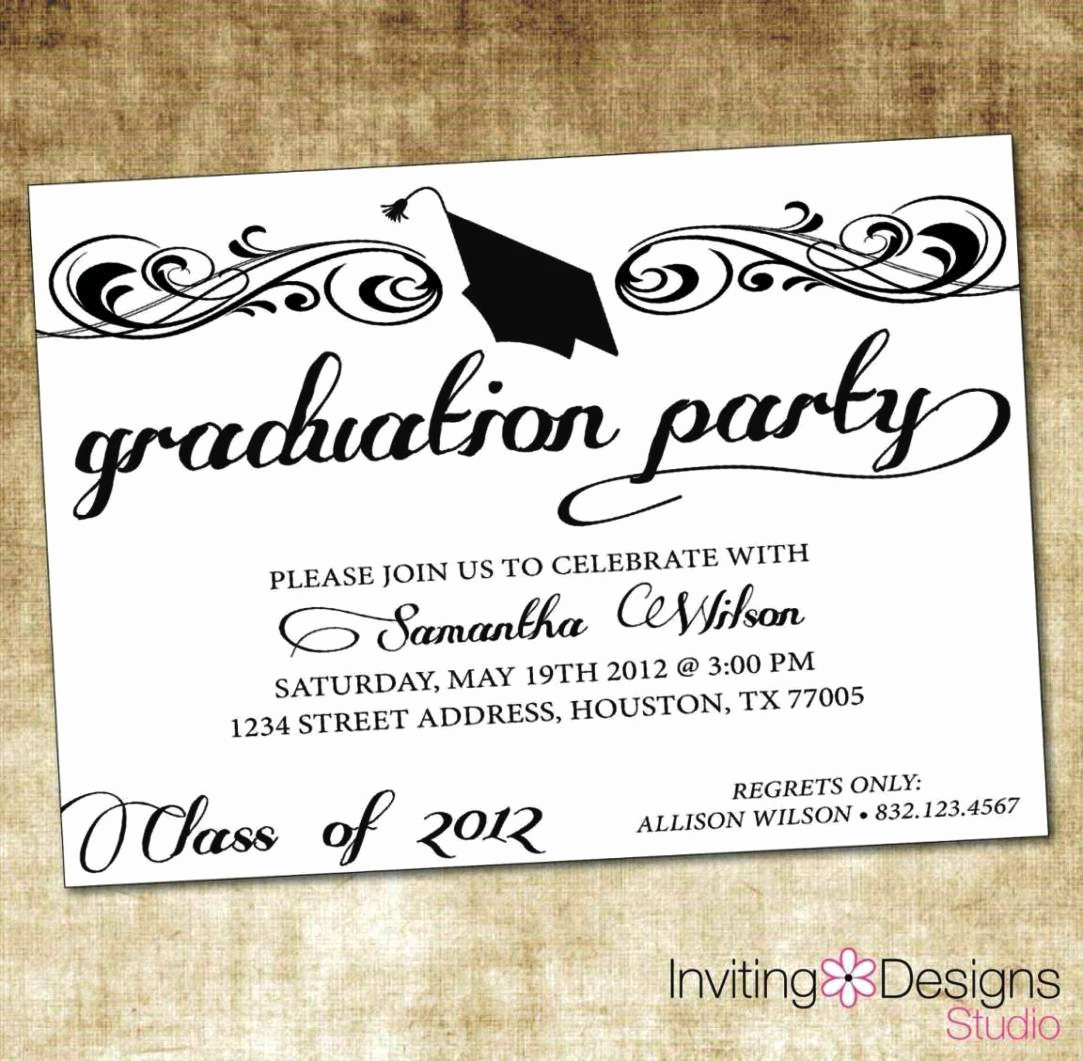 Graduation Ceremony Invitation Wording New Graduation Ceremony Invitation Templates