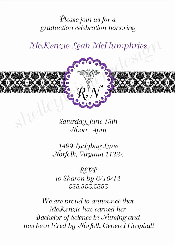 Graduation Ceremony Invitation Wording New Nursing Schools Graduation and Nursing School Graduation