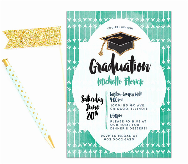 Graduation Commencement Invitation Wording Elegant 49 Graduation Invitation Designs & Templates Psd Ai