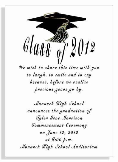 Graduation Commencement Invitation Wording Fresh Graduation Announcements Invitations Item Grfb2930