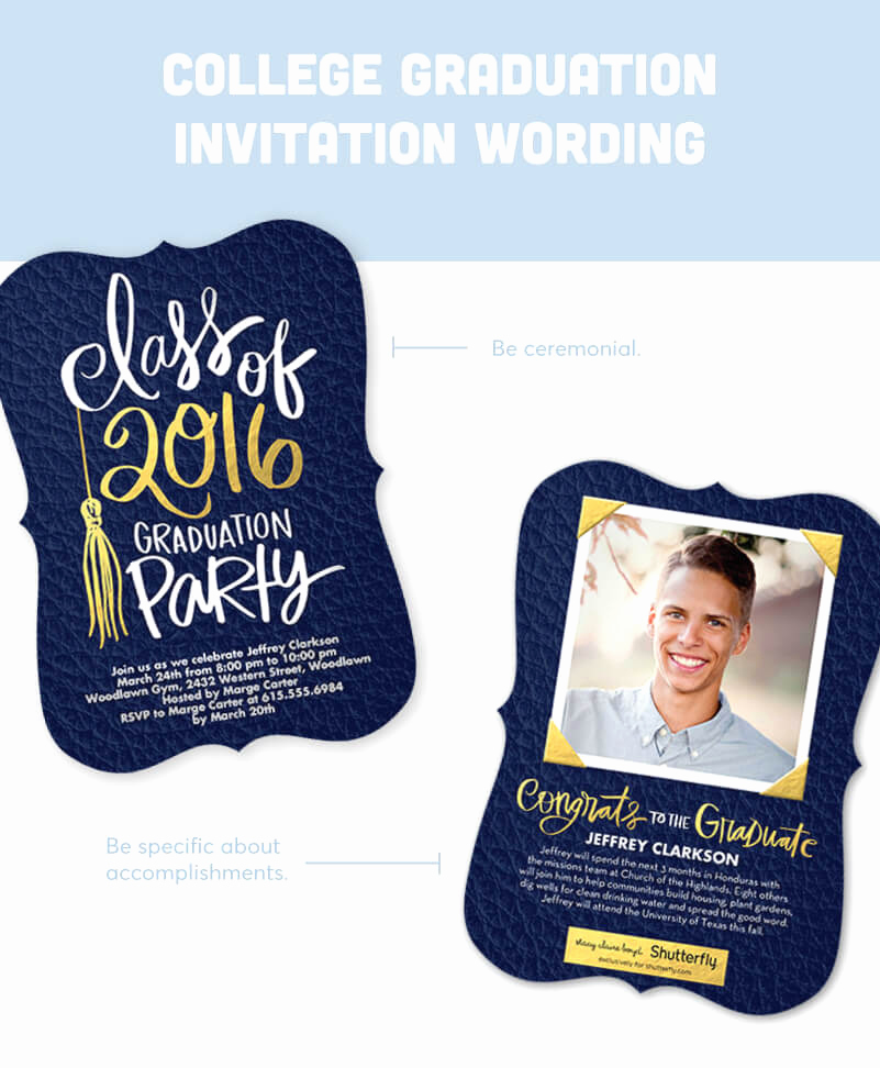 Graduation Commencement Invitation Wording Inspirational Graduation Invitation Wording Guide for 2018