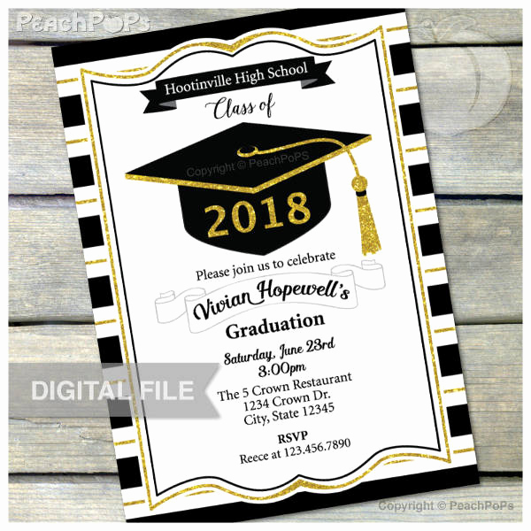 Graduation Dinner Invitation Template Awesome 11 High School Graduation Invitation Designs & Templates