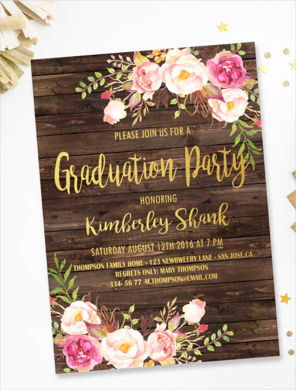 Graduation Dinner Invitation Template Fresh 44 Invitation Templates Download