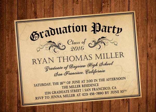Graduation Dinner Invitation Template Inspirational 42 Printable Graduation Invitations Psd Ai Word