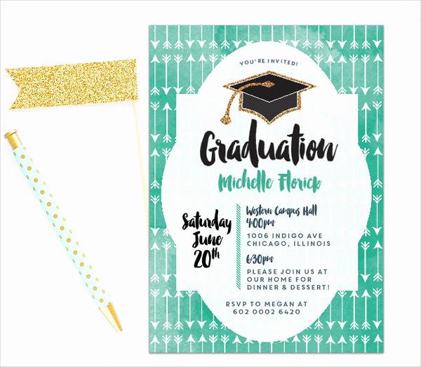 Graduation Dinner Invitation Template Lovely 49 Graduation Invitation Designs & Templates Psd Ai