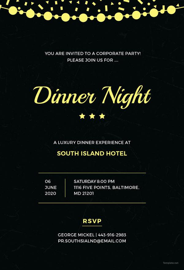 Graduation Dinner Invitation Template Luxury 47 Dinner Invitation Templates Psd Ai