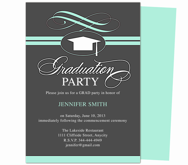 Graduation Dinner Invitation Template New Graduation Invitation Ideas