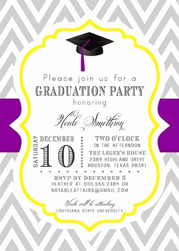 Graduation Dinner Invitation Wording Elegant Graduation Party Senior High School College Graduation