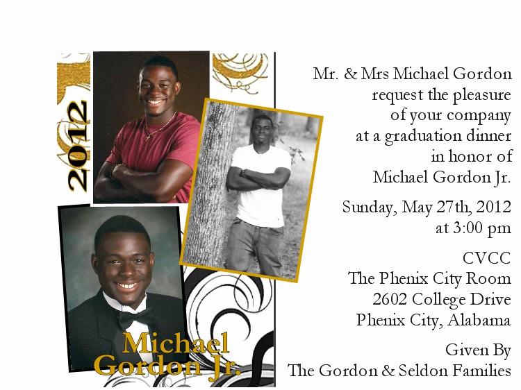 Graduation Dinner Invitation Wording Elegant Sunshyne orygynals Press Mike S Graduation Dinner Invitation