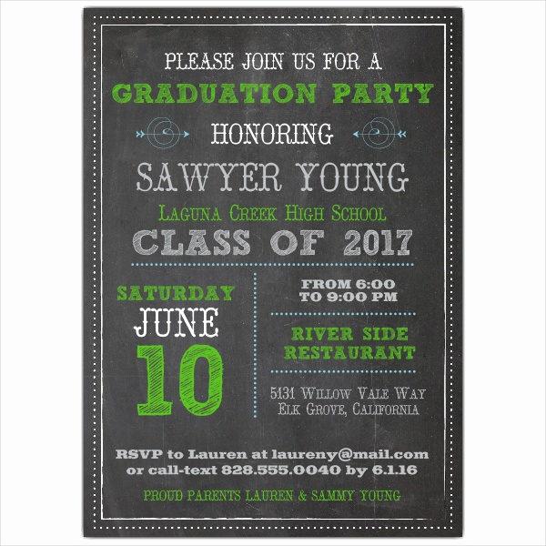 Graduation Dinner Invitation Wording Lovely 39 Printable Graduation Invitations