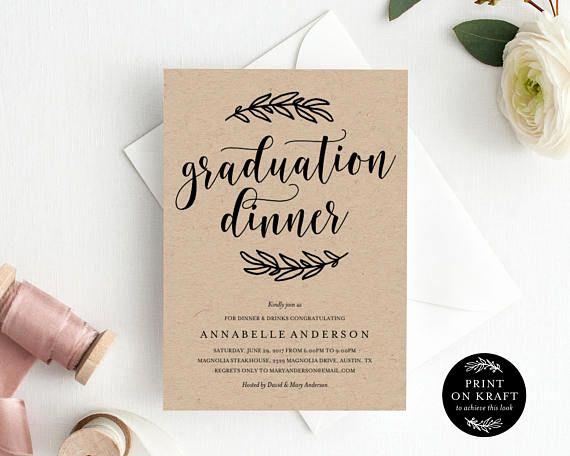Graduation Dinner Invitation Wording Luxury Graduation Dinner Invitation