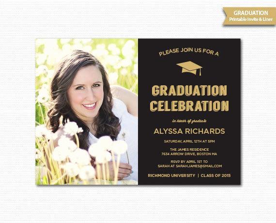 Graduation Dinner Invitation Wording New Graduation Invitation Grad Announcement Graduation Party