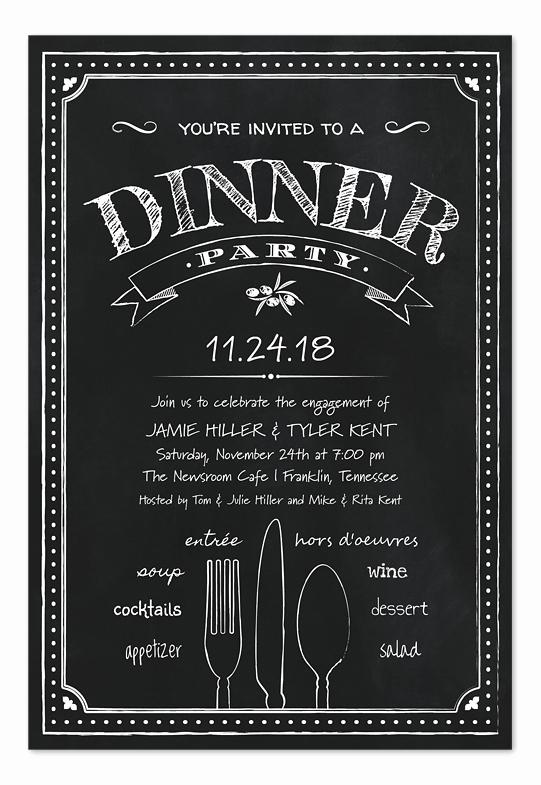 Graduation Dinner Party Invitation Wording Awesome Chalkboard Dinner Party Party Invitations by Invitation