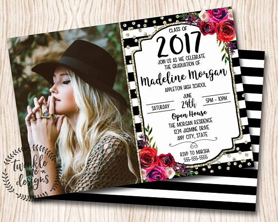 Graduation Invitation Card Ideas Unique Best 25 High School Graduation Invitations Ideas On Pinterest