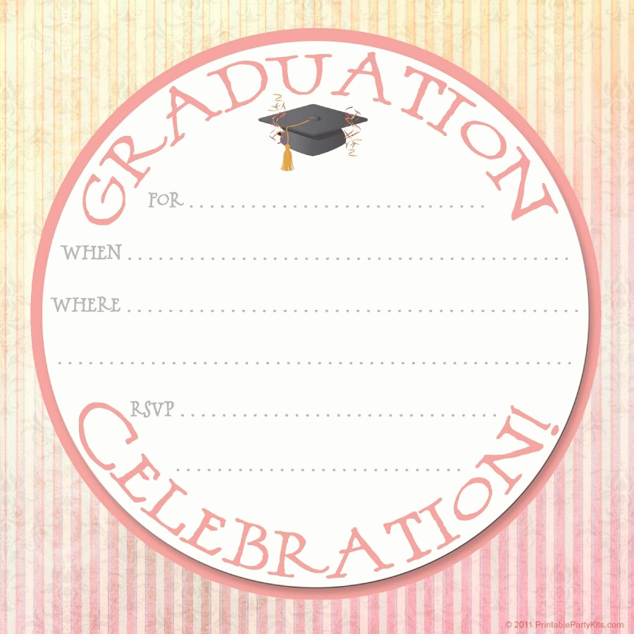 Graduation Invitation Card Template Awesome 40 Free Graduation Invitation Templates Template Lab