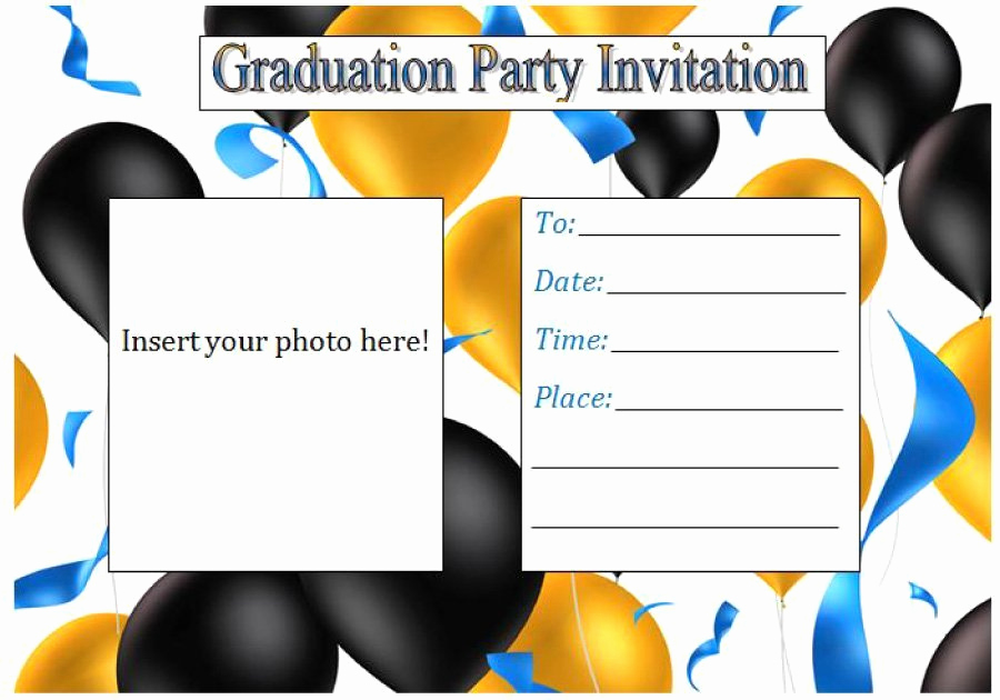 Graduation Invitation Card Template Beautiful 40 Free Graduation Invitation Templates Template Lab