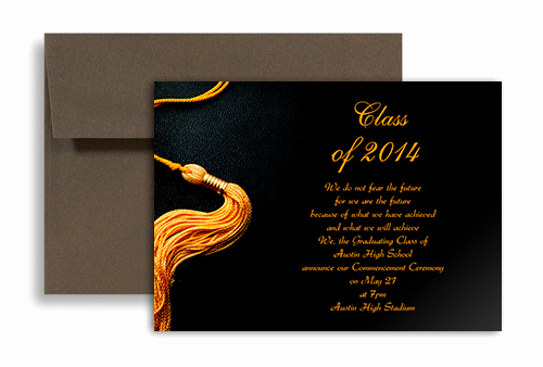 Graduation Invitation Card Template Lovely 2019 Black Golden Color Personalized Graduation Invitation