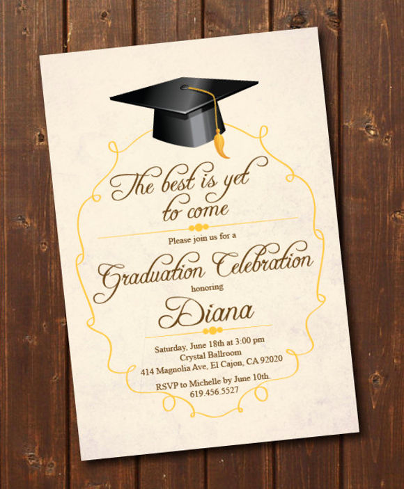 Graduation Invitation Card Template Luxury 78 Invitation Card Examples Word Psd Ai Word