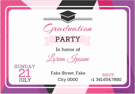 Graduation Invitation Card Template Unique 10 Best Graduation Party Invitation Card Templates Ms Word