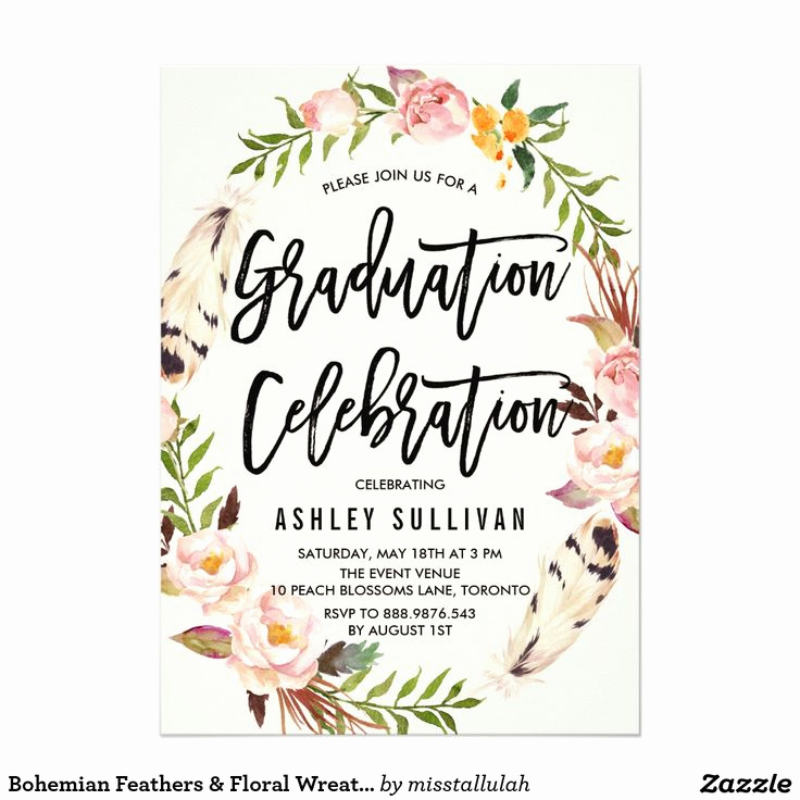 Graduation Invitation Card Template Unique Best 25 Graduation Invitations Ideas On Pinterest