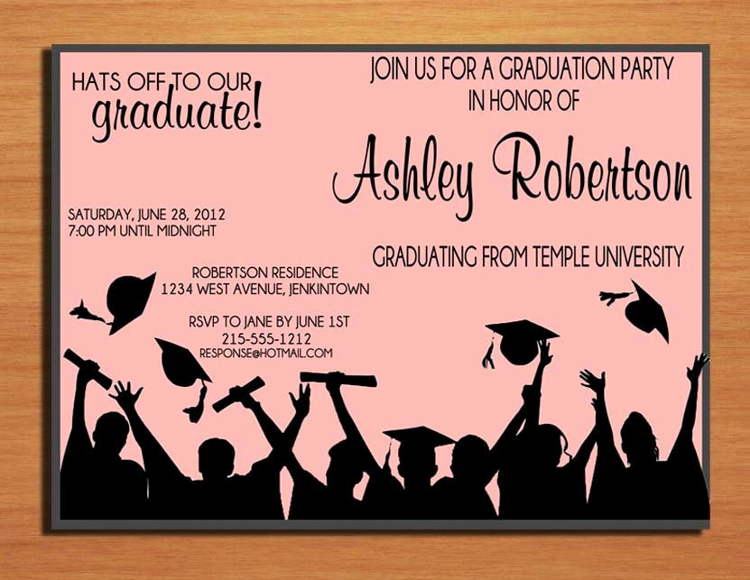 Graduation Invitation Cards Free Best Of Hat toss Graduation Party Invitation Cards Printable Diy