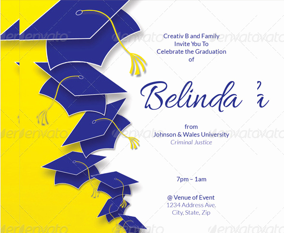Graduation Invitation Cards Samples Awesome 35 Graduation Invitation Templates Psd Ai Word