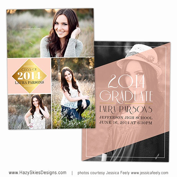 Graduation Invitation Cards Samples Awesome Items Similar to Senior Graduation Announcement Card